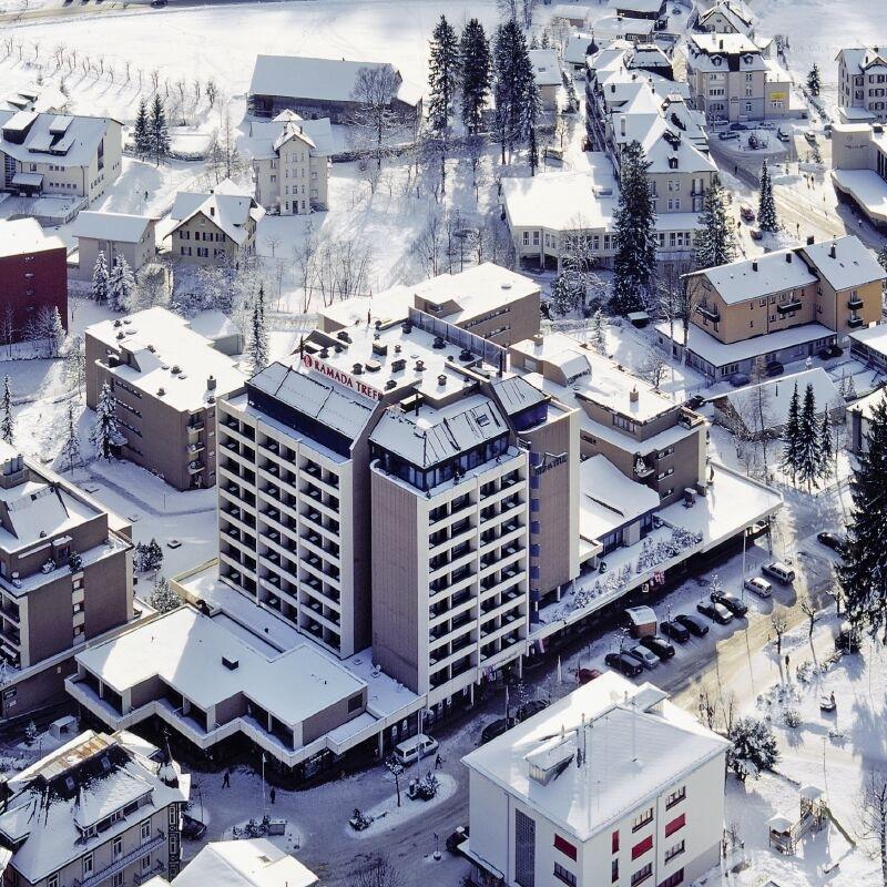 Looking down over Engelberg resort centre
