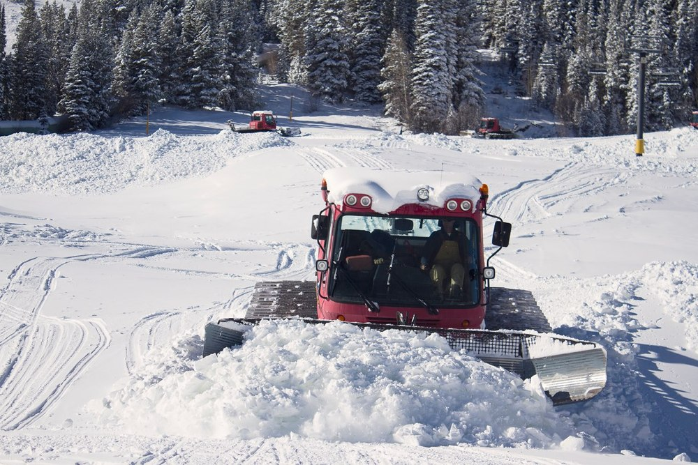 The snowcat at Winter Park is busy thanks to Winter Storm Brutus. Photo: Winter Park/Facebook