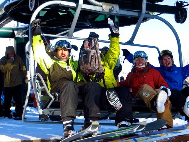 First chair of 2012-2013 season at Brighton Resort - © Stephanie Nitsch