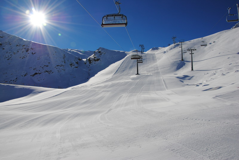 Groomed slopes in Ischgl. Photo taken Nov. 13, 2012 - © Ischgl