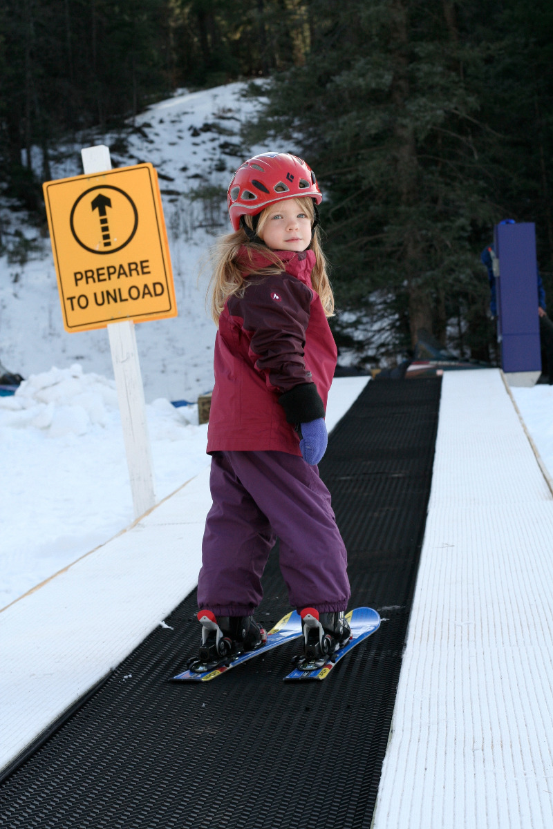 Learning the fundamentals of skiing on the Magic Carpet at Sipapu Resort - ©Courtesy of Sipapu Ski and Summer Resort