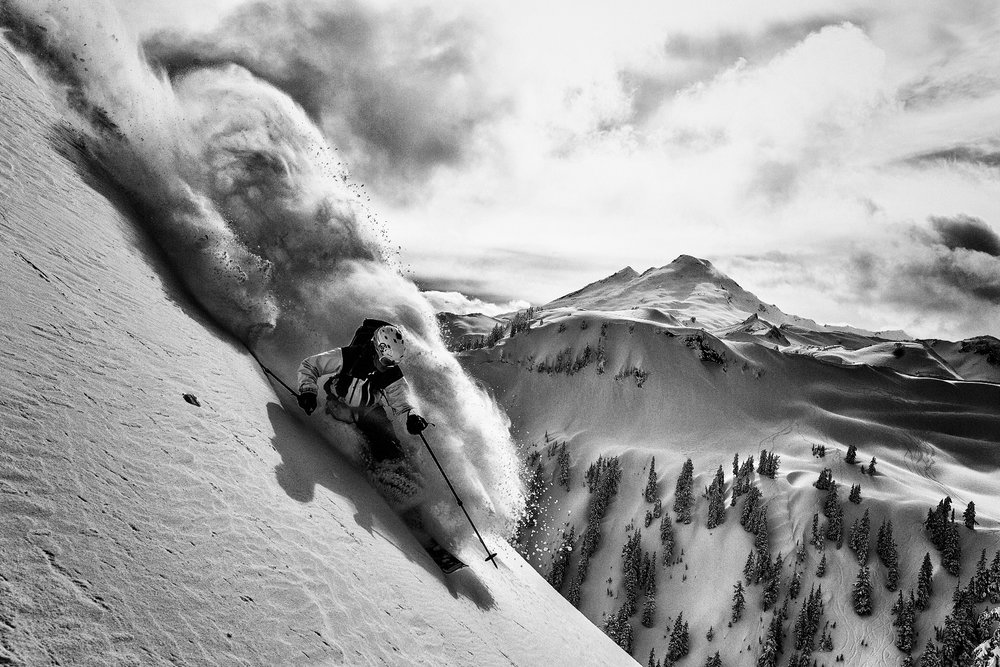 Adam Ü skiing in the Mt. Baker Backcountry - © Grant Gunderson