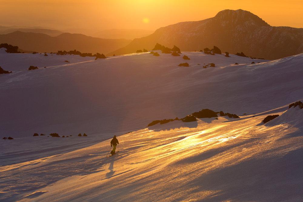 Mike Douglas skiing Nevados De Chillan - ©Grant Gunderson