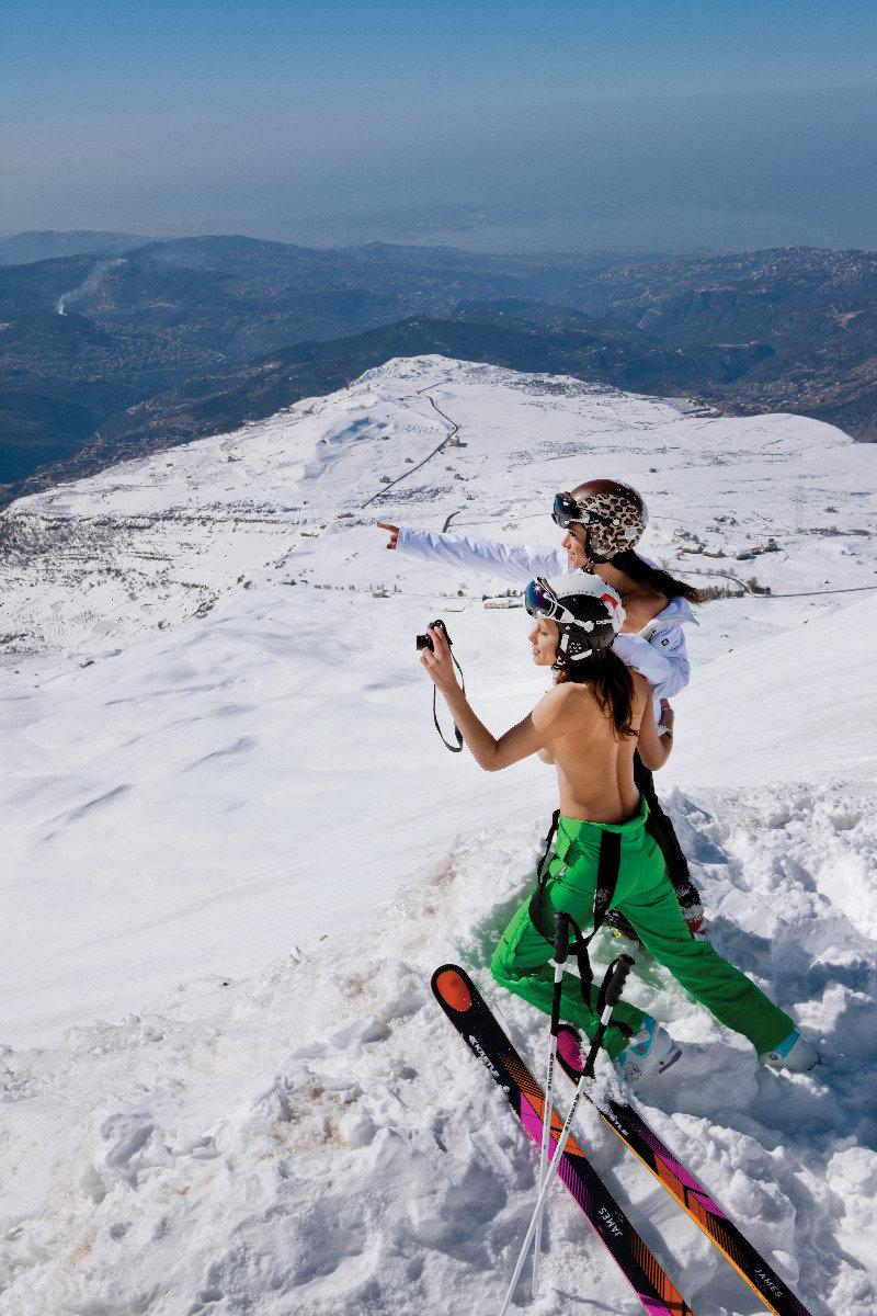 Ski Instructor Calendar 2013- Jackie Chamoun  - ©Hubertus von Hohenlohe/Florian Herzog