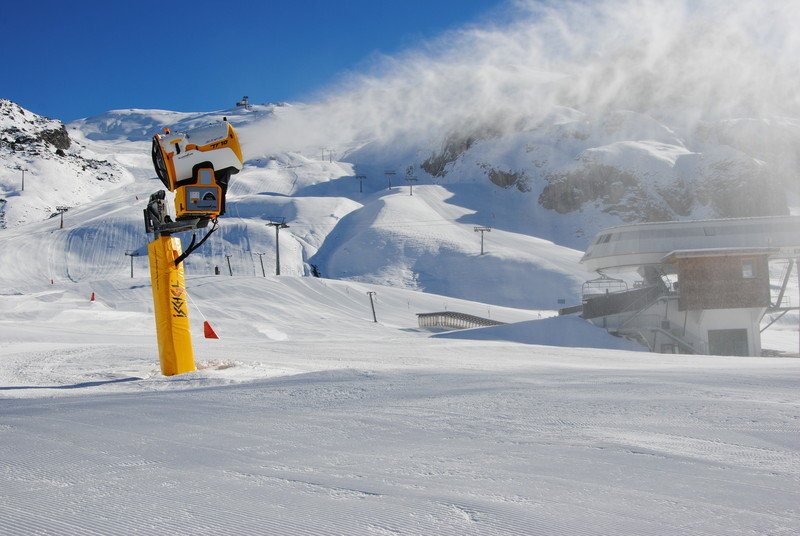 Snow canons in full force in Ischgl. Photo taken Nov. 13, 2012 - ©Ischgl