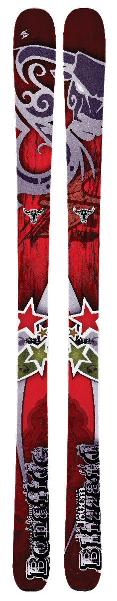 Blizzard Bonafide Ski—An OnTheSnow Editors' Choice ski, the Bonafide is the ultimate one-ski quiver at 98 mm underfoot. It's combination of float and power is unmatched thanks to a light wood core enhanced by titanium and Blizzard's Flipcore rocker. It has a huge sweet spot underfoot, is super stable and is very responsive no matter what conditions you're in. $850 - ©Blizzard Skis