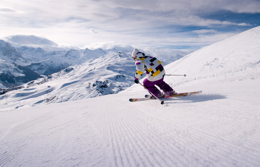 Room to stretch your legs on the ski slopes of Meribel - ©Meribel Tourism
