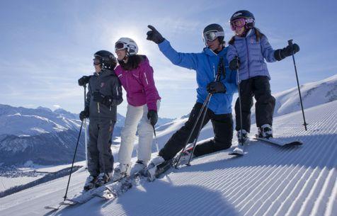 Fun on the slopes in Scuol, Switzerland - ©Graubünden Ferien