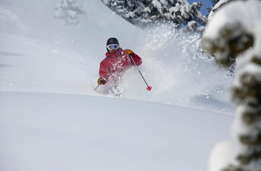 Powder skiing at Hoodoo. Photo courtesy of Hoodoo Ski Area.