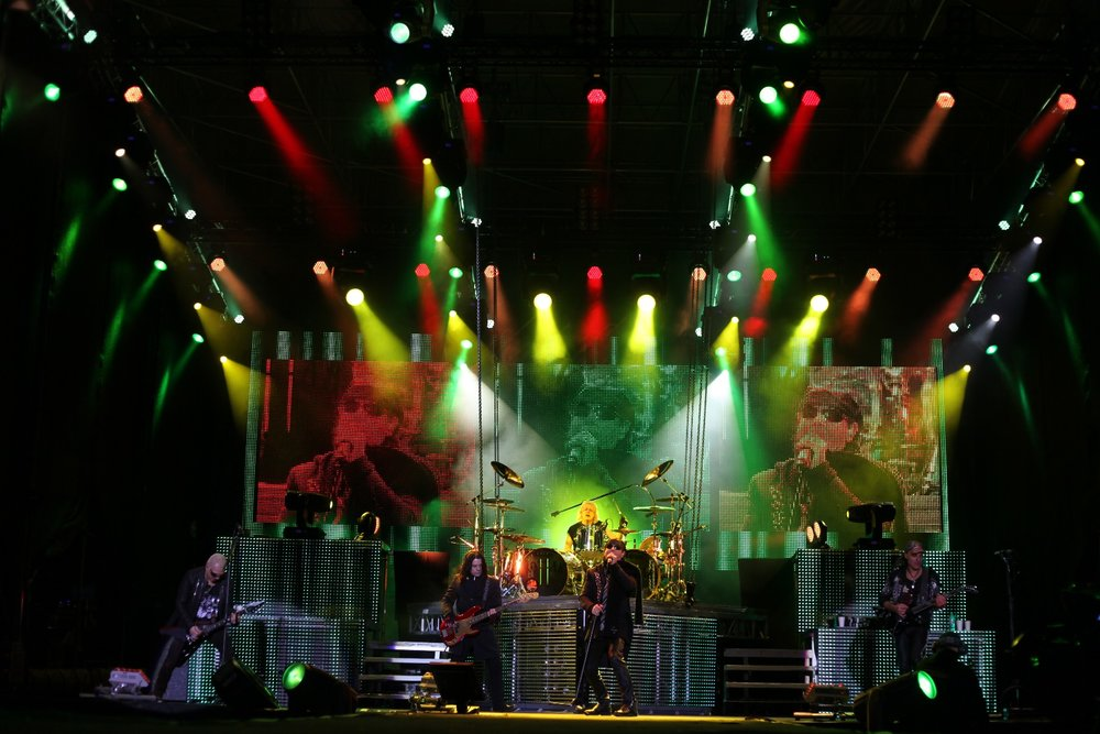 Scorpions on stage at Top of the Mountain concert, Ischgl. - © Ischgl.com