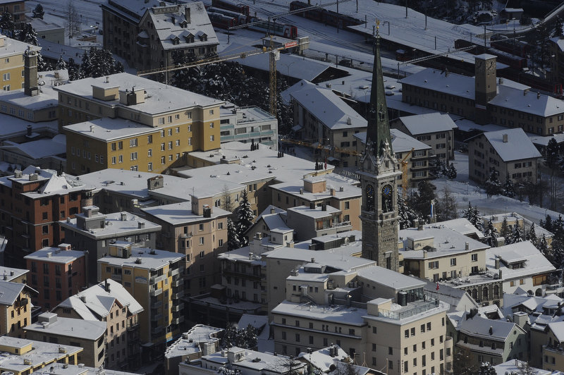 St Moritz village, Switzerland