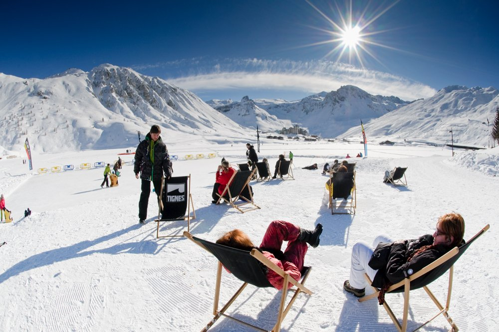 Les plaisirs du ski de printemps à Tignes - © Tignes Tourist Office