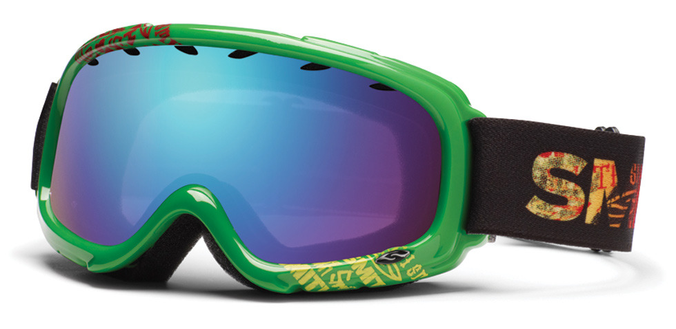 "Smith Optics Gambler Kids Goggle - The Smith Gambler Kids Goggle is a perfect stocking stuffer for that ""little ripper."" It has a dual lens to eliminate fogging and comes in ten great colors. $30-45. - Steve Kopitz, Skis.com. - © Skis.com"