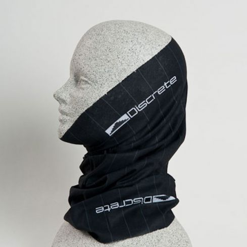 Discrete Droz Gaiter - The Discrete Droz Gaiter provides protection from the elements, without holding you down. Made from 100 percent microfiber polyester, the Droz Gaiter is soft, breathable and fashionable thanks to its pinstripe design. $18. - © Discrete