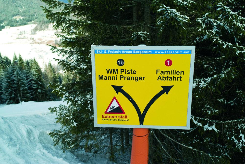 Die Manfred Pranger Piste ist mit 102 Prozent Gefälle die steilste Piste Österreichs - © Tourismusverband Wipptal