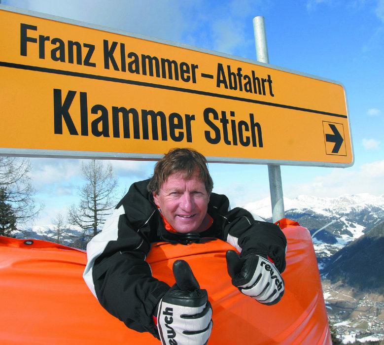 Franz Klammer am Franz Klammer Stich in Bad Kleinkirchheim - © Bad Kleinkirchheimer Tourismus Marketing GmbH
