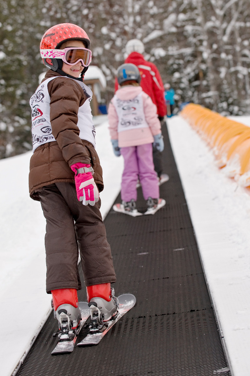 Kids learning to ski at Panorama Mountain Village, BC. Photo courtesy of Panorama Mountain Village.