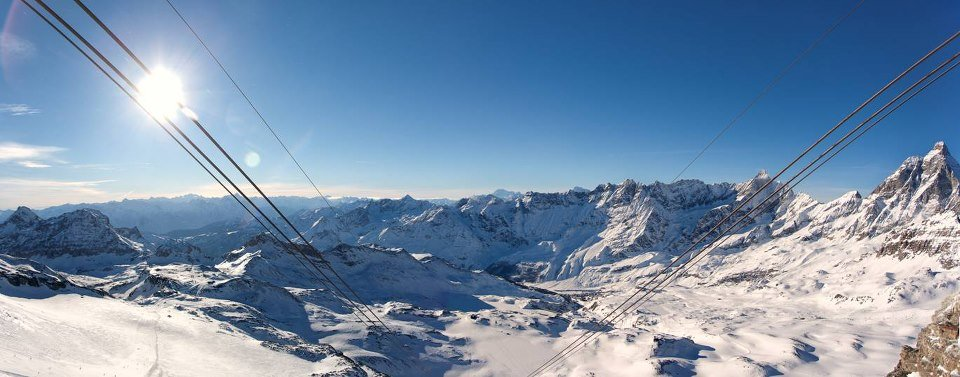 Cervinia ski area from the lifts. Dec. 31, 2012 - © Cervinia