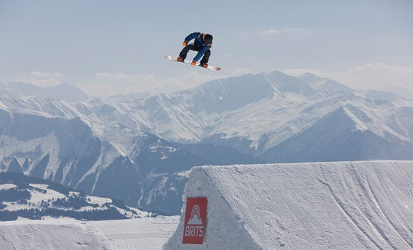 Freestyle snowboarder at the Brits 2012 in Laax - © the-brits.com