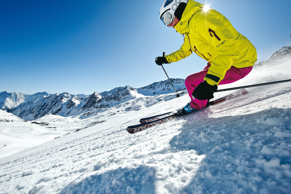 De Stubaier gletsjer, met 110 km aan pistes