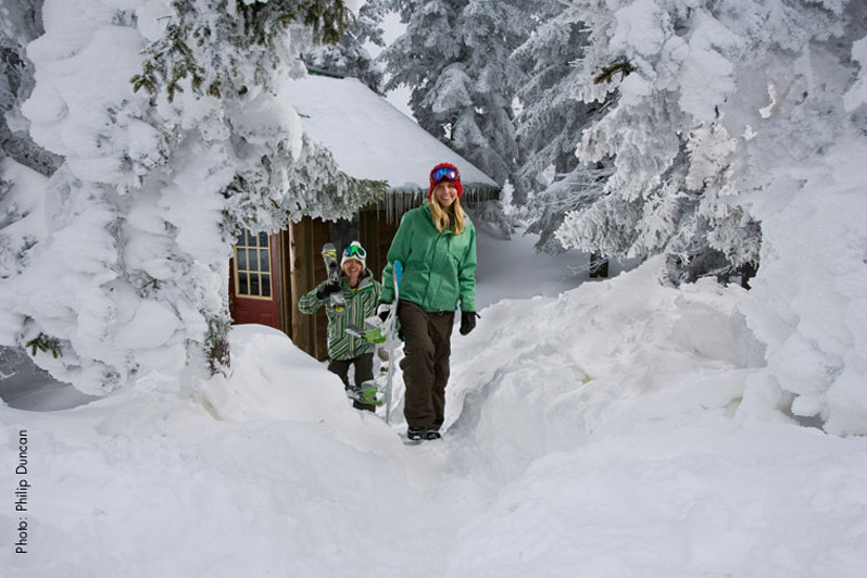 Don't get buried by expensive lift tickets, Snowshoe's new e-store helps you get out on the slopes without going into debt. Photo Courtesy of Snowshoe Mountain Resort.