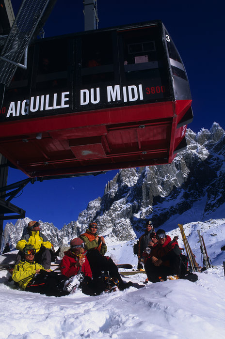 Chamonix's cable car station, l'Aiguille du Midi, will experience improvements that should shorten wait times significantly. - © Chamonix Tourism