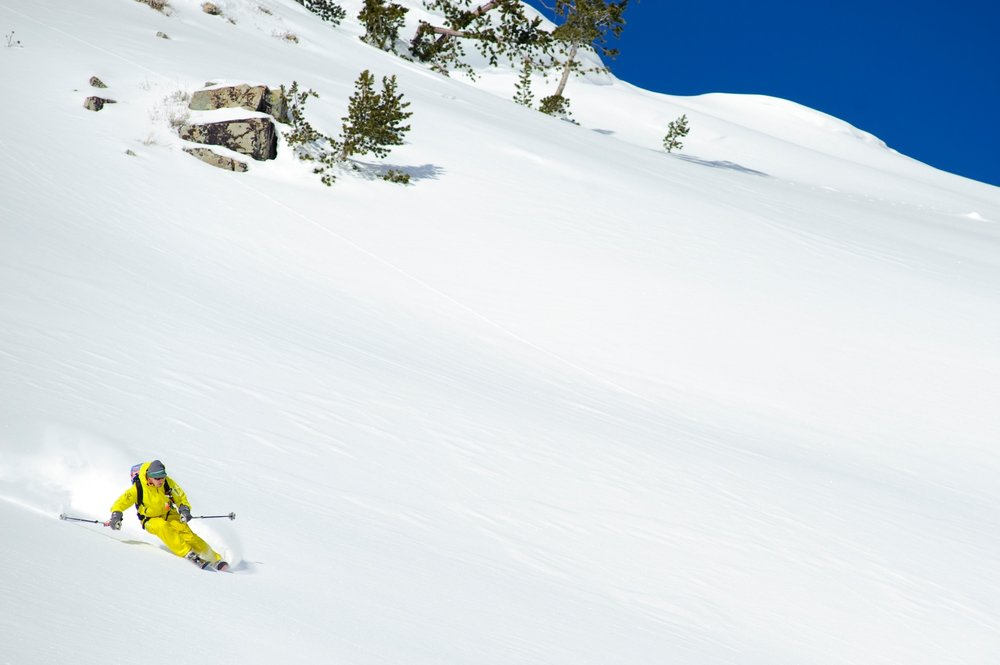 Wide open terrain with Sun Valley Heli-Ski Guides. - © Tal Roberts