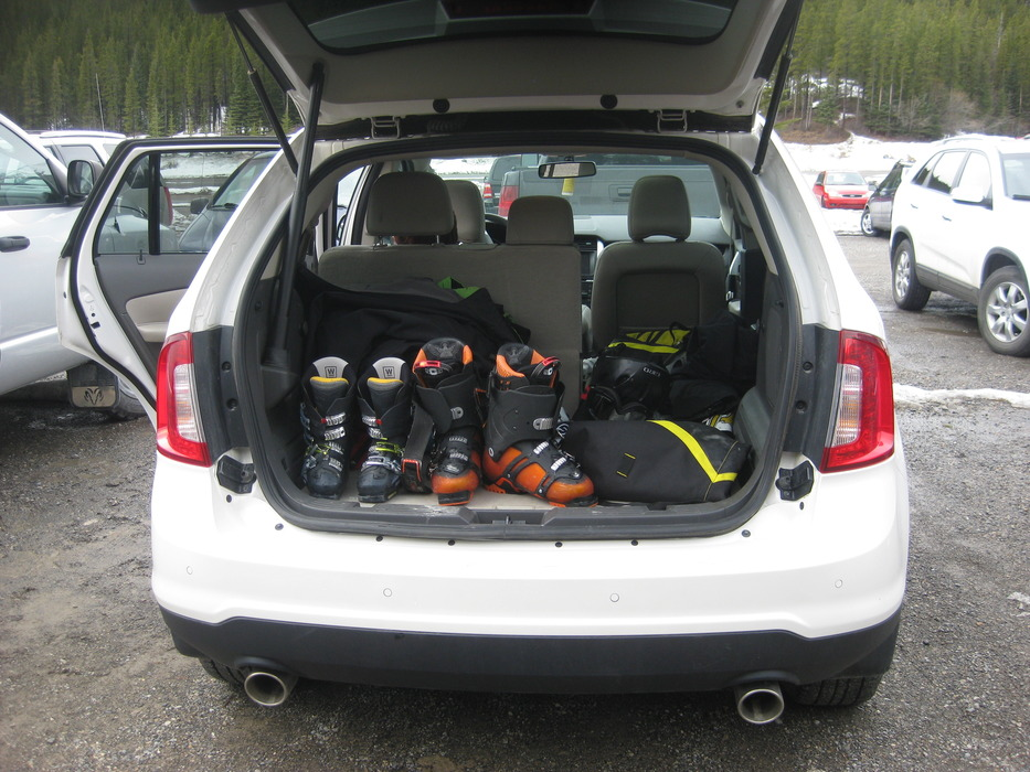 Packing up the car for the Canadian Rockies road trip - © Patrick Thorne