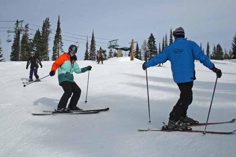 A ski lesson at Brundage. Photo courtesy of Brundage Mountain Resort. - © Brundage Mountain Resort