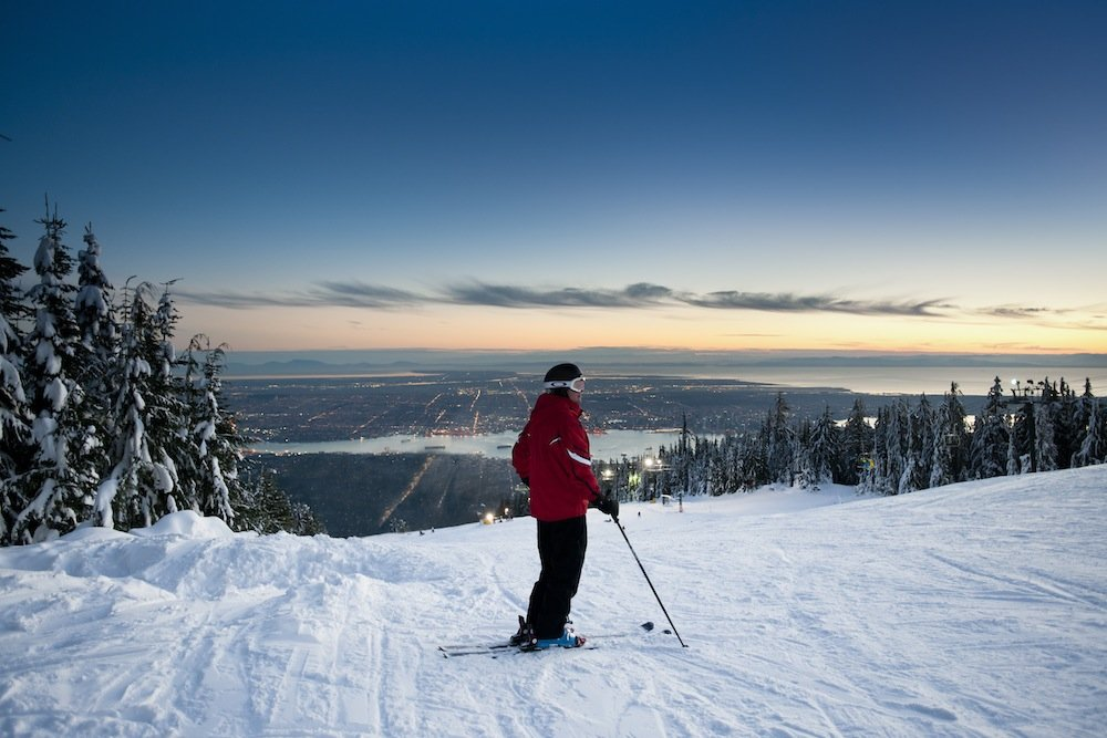 Skiing at Grouse. Photo courtesy of Grouse Mountain. - © Grouse Mountain