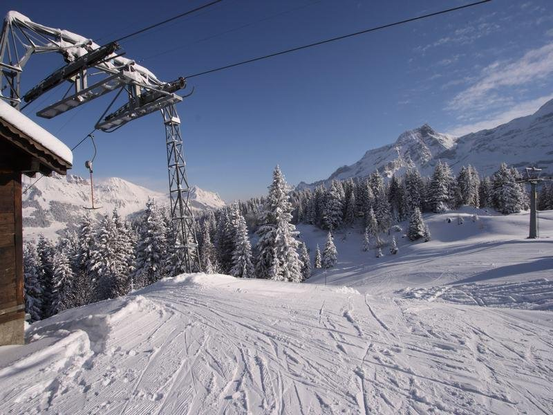 Sur le domaine skiable des Diablerets