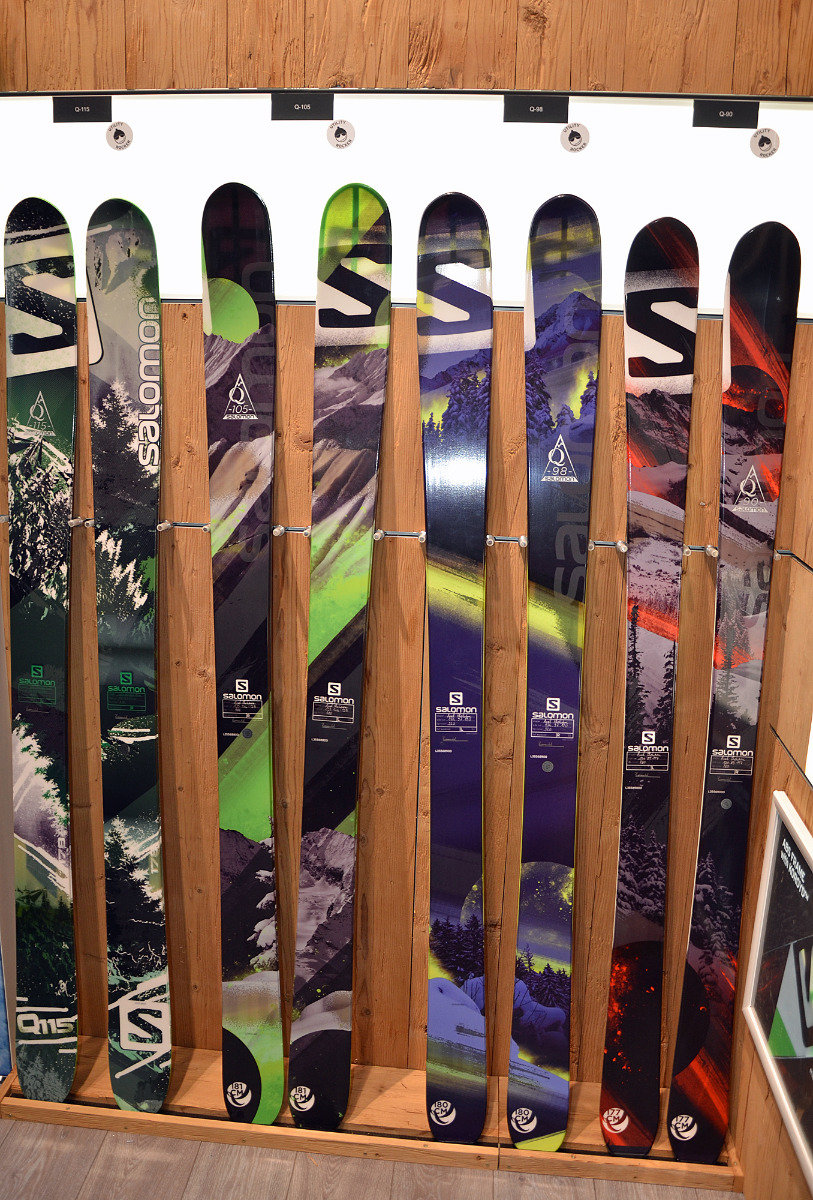 Salomon Q-Skis: All Mountain Backside Series with 5-point sidecut - ©Skiinfo