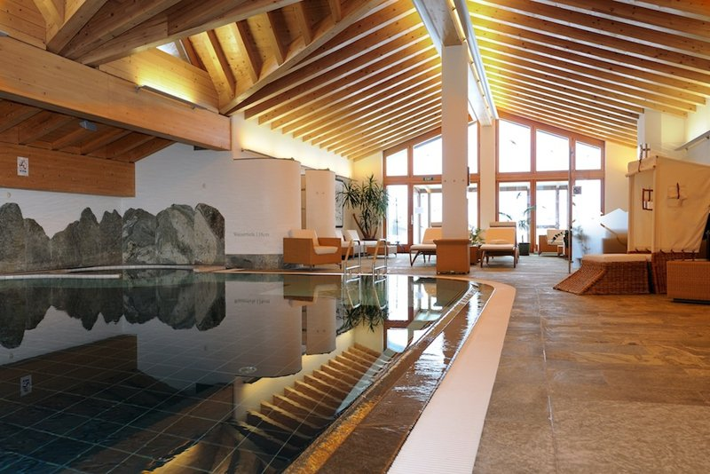 Wellness area at the Riffelalp Resort, Zermatt - © Riffelalp Resort