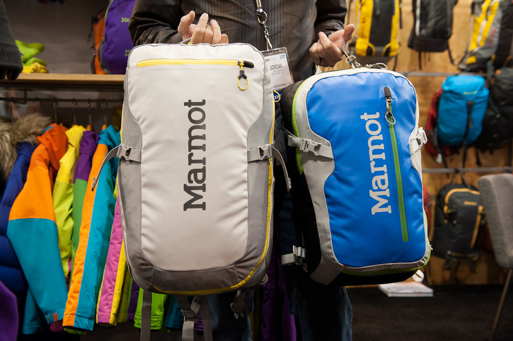 "The Transhauler pack from Marmot is made of 420 denier ballistics cloth, a lightweight yet protective material. The pack opens in a D shape, allowing you to pack it on a flat surface like a suitcase, and also features a laptop sleeve capable of holding a 17"" laptop.  - © Ashleigh Miller Photography"