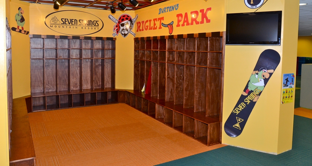 The new Pirates Riglet Park has authentic ballpark features like a locker room, dugout, bases and even a fort on home plate. Photo Courtesy of Seven Springs.