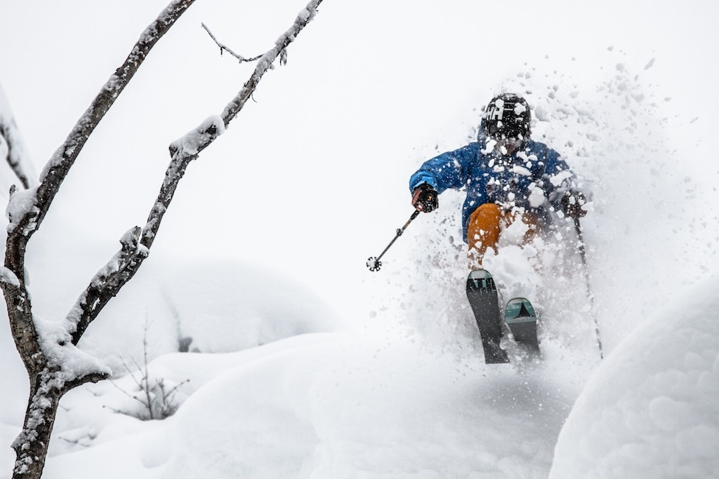 MIke Maroney pillow popping in the woods at Steamboat. - © Liam Doran