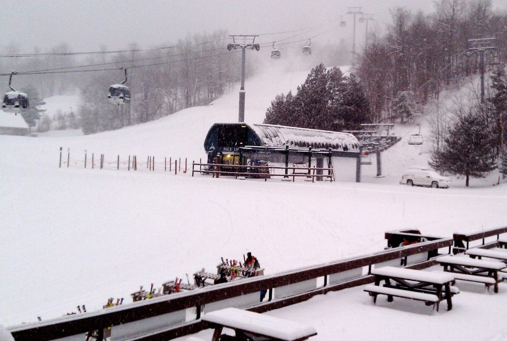 "Whiteface got 10"" before the storm has even begun to intensify. - © Whiteface/Facebook"