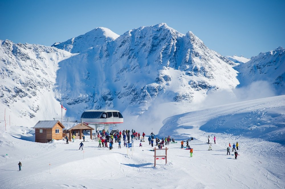 Whistler Blackcomb at the top of Harmony Chair.   - ©Mike Crane/Tourism Whistler