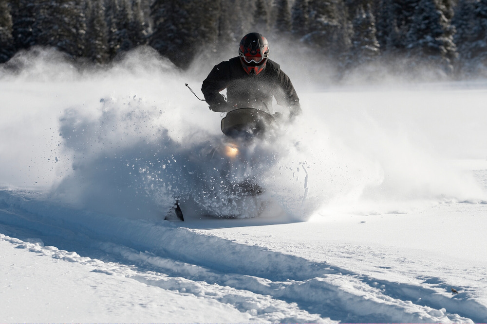 Snowmobile tours are offered at Sunlight Mountain Resort. - © Photo courtesy Sunlight Mountain Resort.
