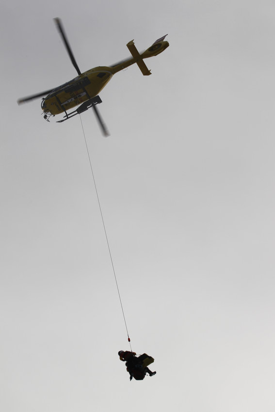 Das war das letzte, was man in Schladming von Lindsey Vonn sah. Gute Besserung! - © Christophe Pallot/AGENCE ZOOM