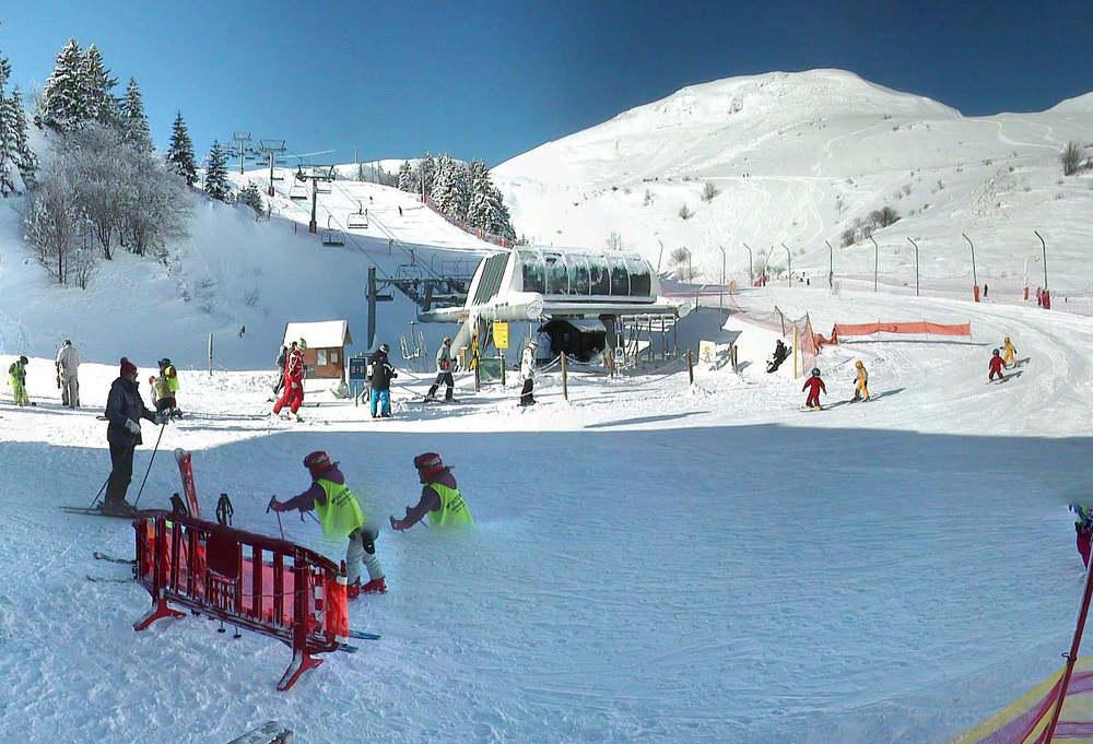 Sur les pistes de ski de Monts Jura