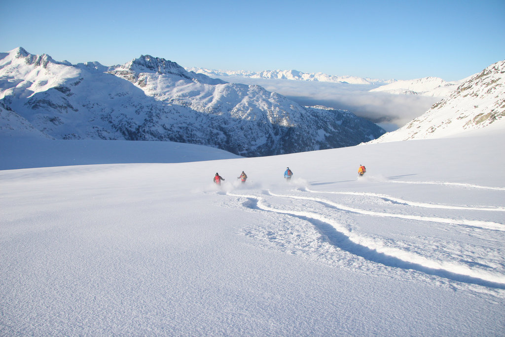 Fresh tracks are the norm when heli skiing with Whistler Heli-Skiing. - ©Yusaku Tanaka