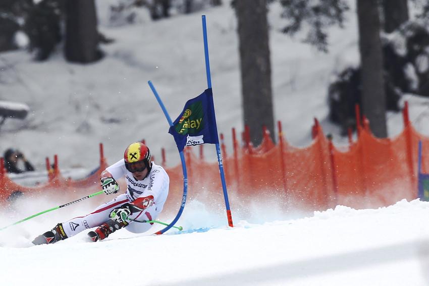 Marcel Hirscher gewohnt agressiv: Er wurde Zweiter in Garmisch - © Alexis Boichard/AGENCE ZOOM