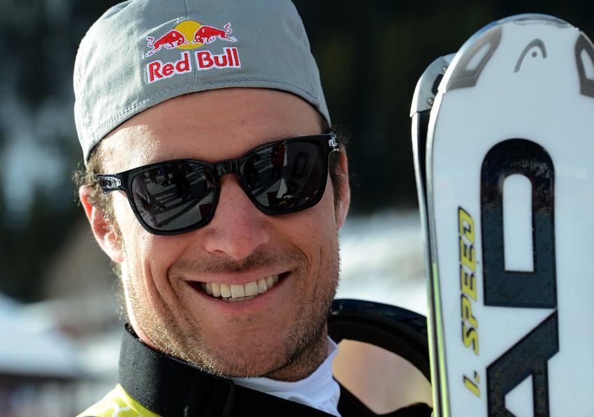 So lächeln Sieger: Aksel Lund Svindal gewinnt zum vierten mal den Super-G Weltcup - Gratulation! - © Jonas Ericsson/AGENCE ZOOM