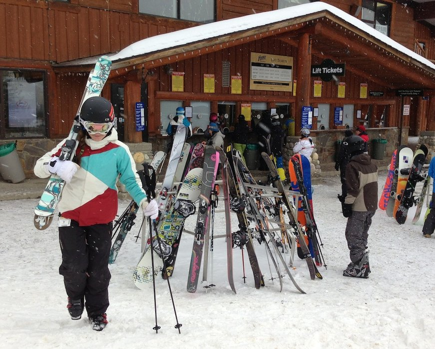 Ready to hit the slopes at Fernie Alpine Resort.  - ©Becky Lomax