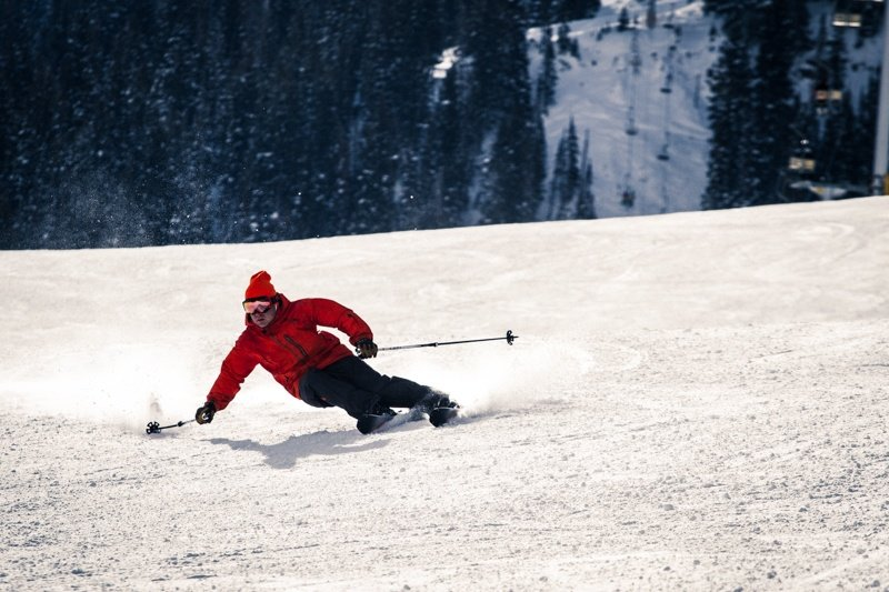There was a great selection of frontside skis available for our ski testers to carve on. - ©Liam Doran