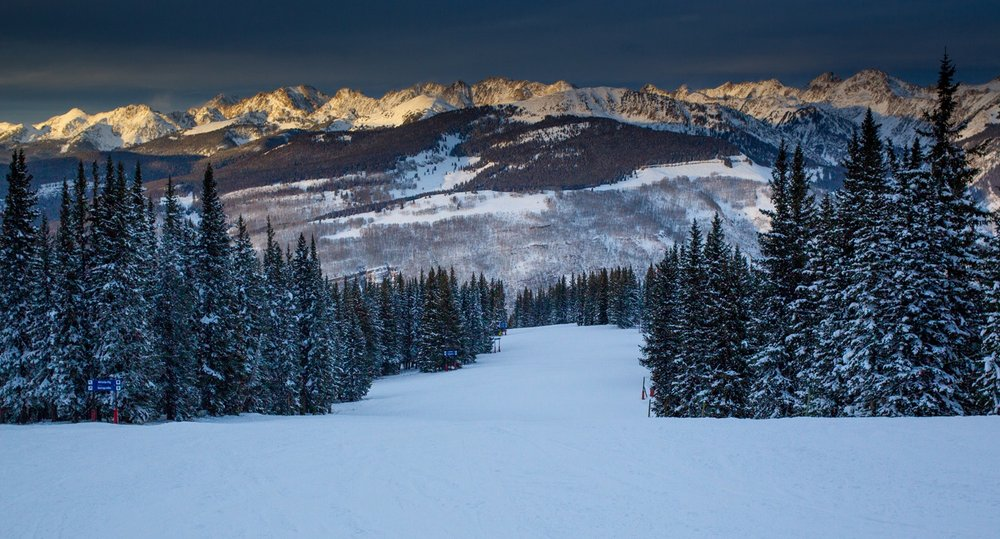 Looking out across the Gore Range from Vail Mountain. - ©Jeff Cricco