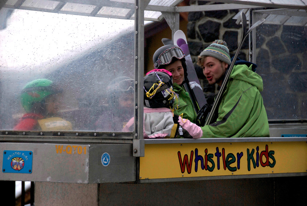 Kids and their instructors get carted to the learning area at Whistler. Photo by Becky Lomax. - ©Becky Lomax