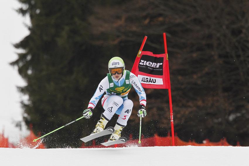Anna Fenninger war die Einzige, die Tina Maze in Ofterschwang schlagen konnte - © Christophe PALLOT/AGENCE ZOOM
