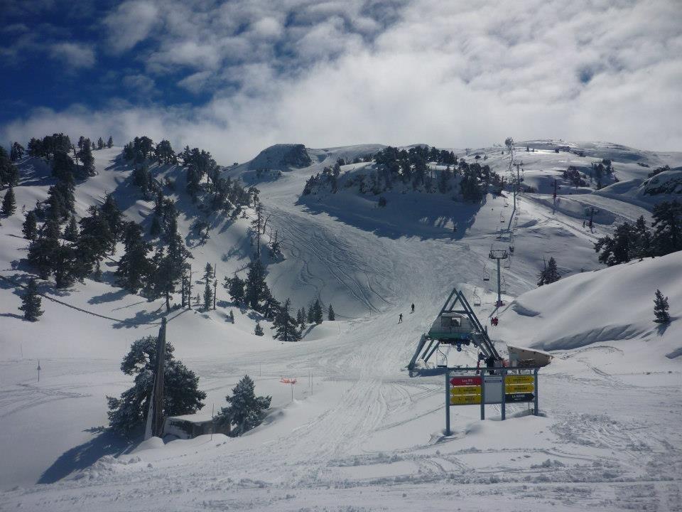 Excellentes conditions de ski à La Pierre Saint Martin dans les Pyrénées